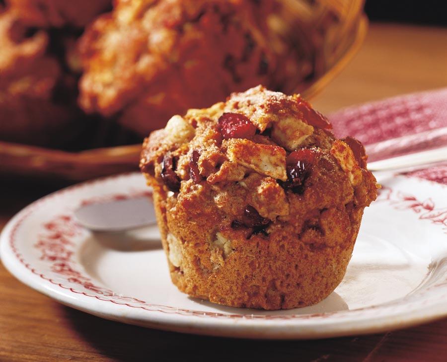 Ontario Apple Growers : Recipe : Chunky Cran-Apple Bran Muffins