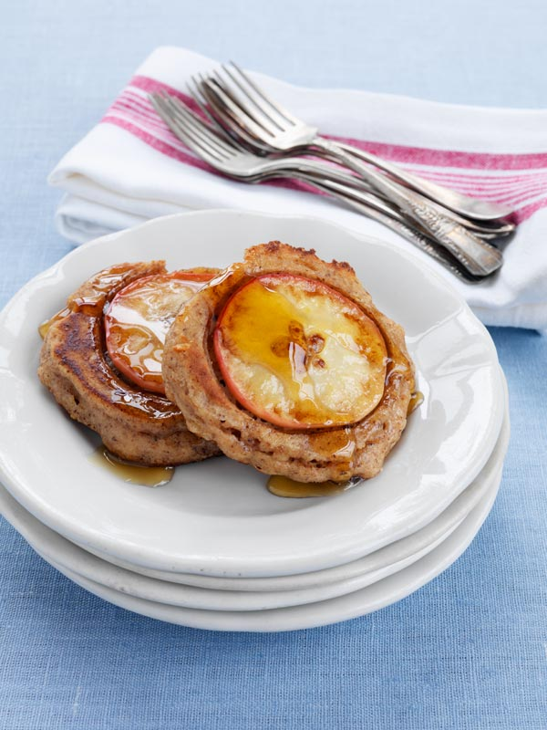 Ontario Apple-Walnut Pancakes with Spelt