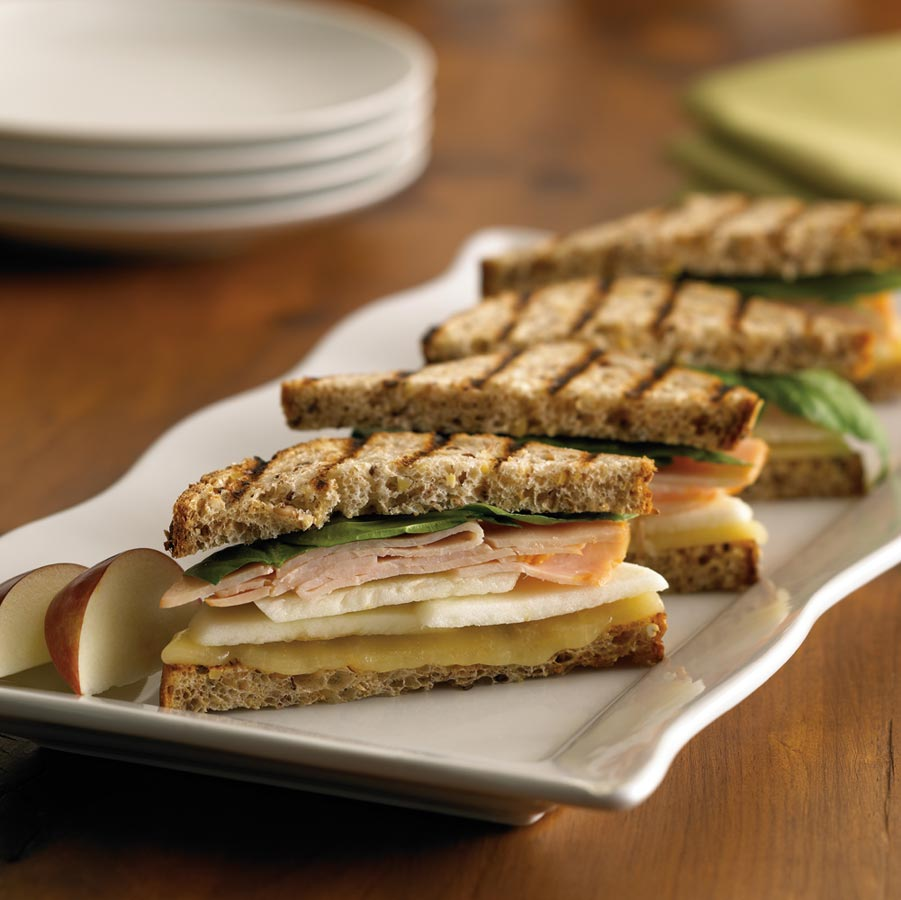Ontario Apple, Aged Cheddar and Smoked Turkey Panini